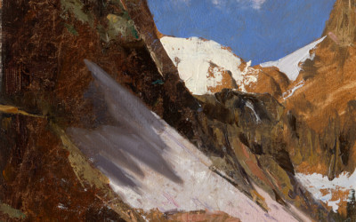 1998 – Rocky Mountain Glacier, oil on linen, 9×9