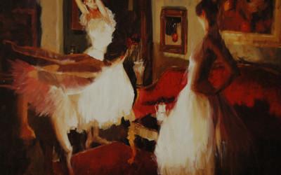 1999 – Before The Ballet, oil on linen 24×36