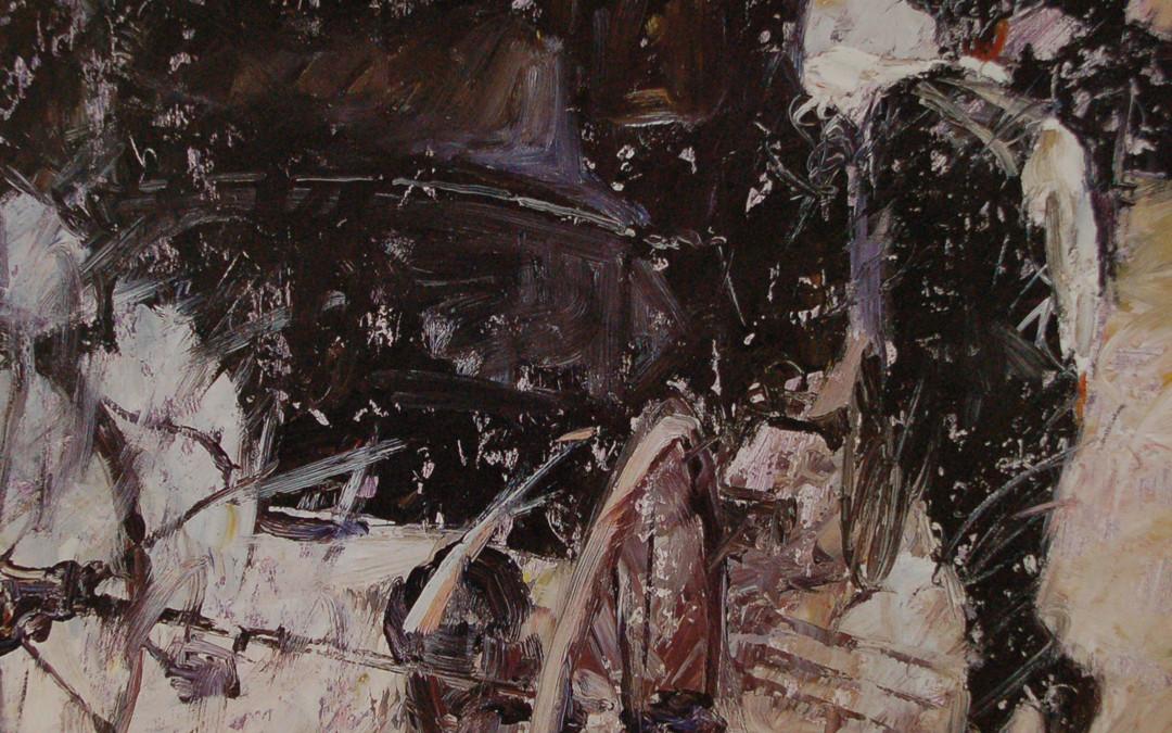 2000 – Vienna, The Fiaker, oil on linen, 16×16