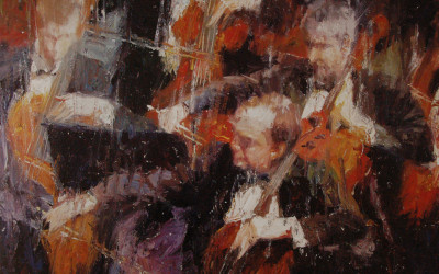 2001 – The Symphony, oil on linen, 24×30