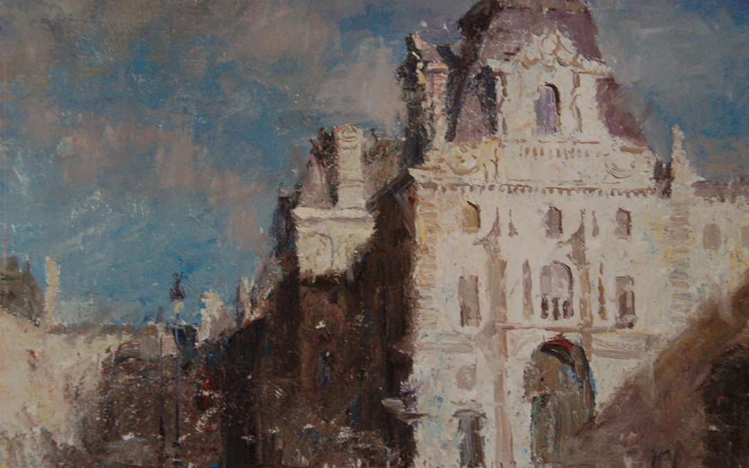 2005 – Musee du Louvre, Paris, oil on linen, 16×20