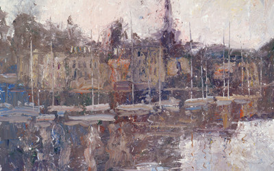 2005 – Vieux Port, Honfleur, oil on linen, 16×20
