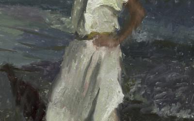 2006 – Emily At The Beach, oil on linen, 36×24
