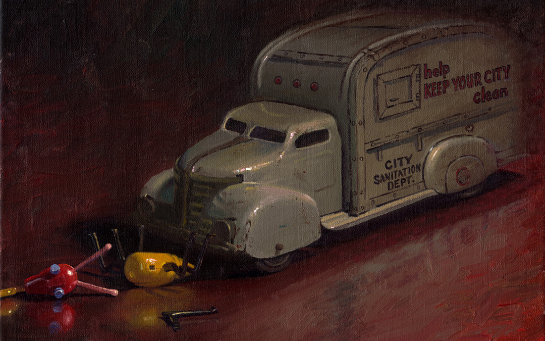 2008 – Road Kill, oil on linen, 16×20