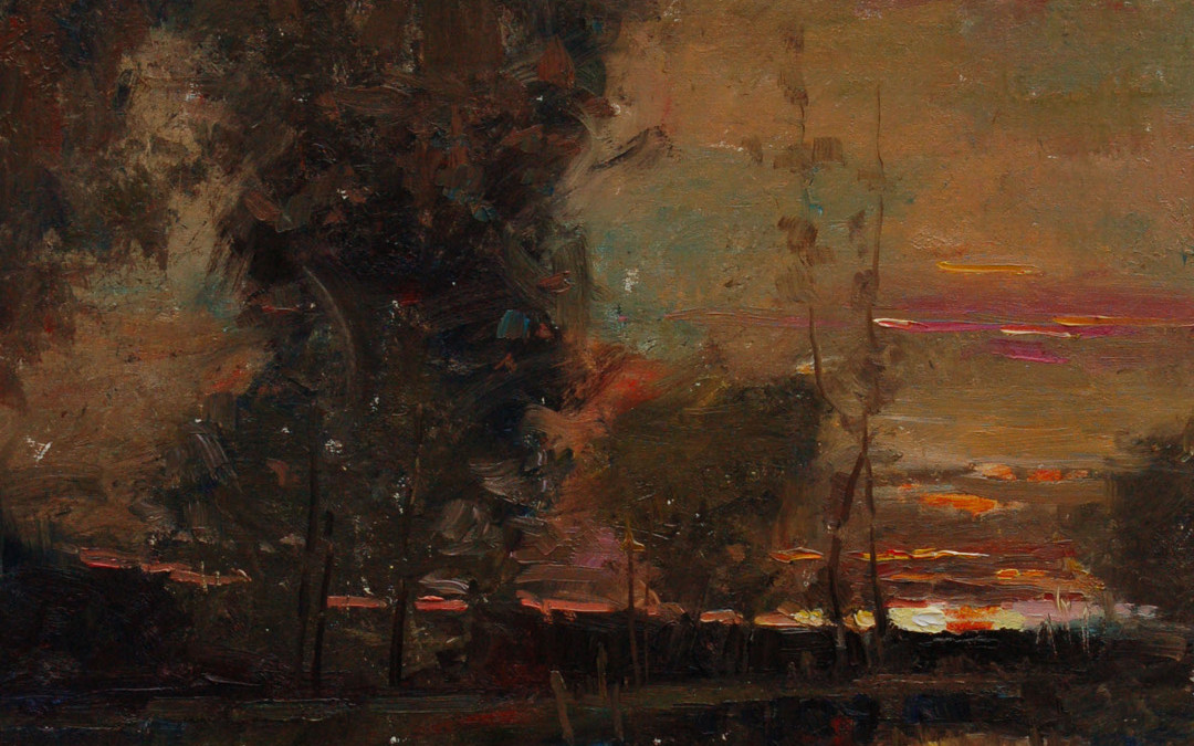 2011 – July Sunset, oil on linen, 20×16