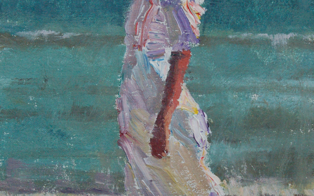 2012 – Katherine At The Beach, oil on linen, 9×6