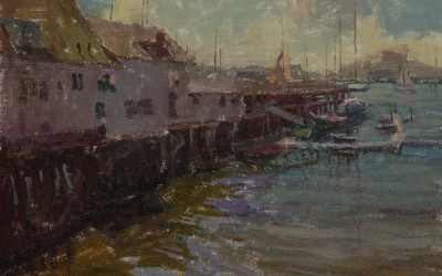 2012 – Gloucester, Beacon Marine Basin, oil on linen, 16×20