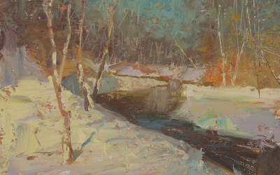 2013 – Early Afternoon Light, Williams Creek, oil painting