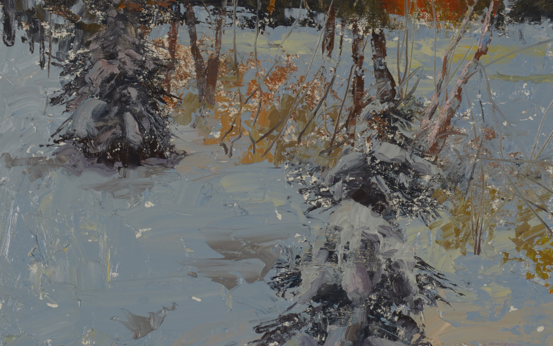2013 – Sunrise, Our Backyard, oil painting