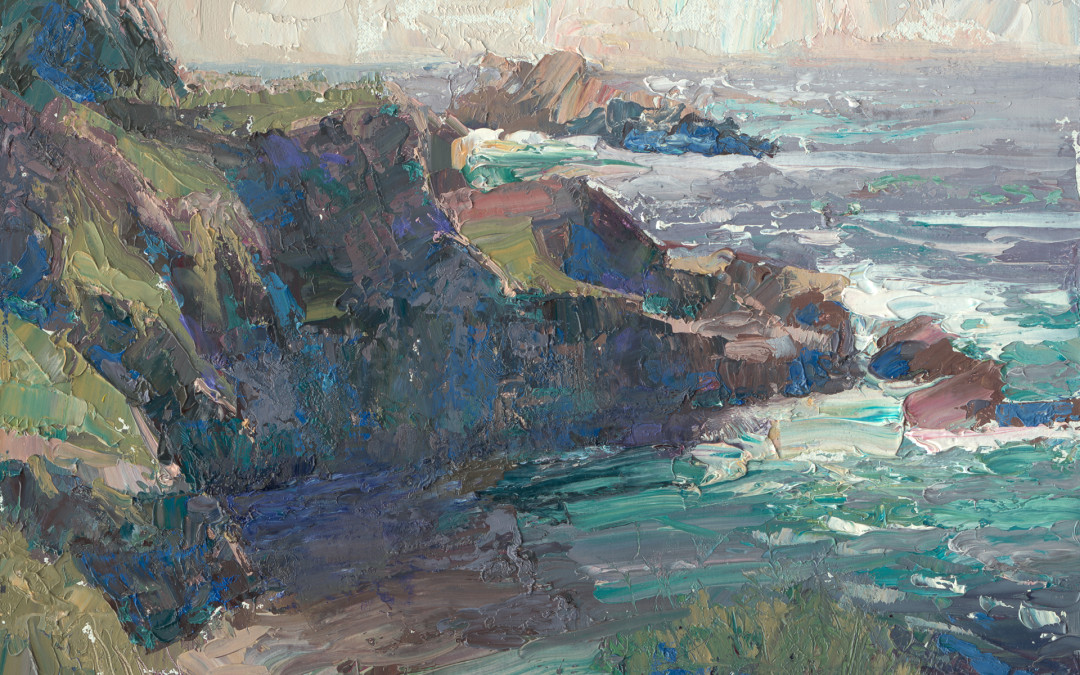 2013 – Entrance to China Cove, Pt. Lobos painting