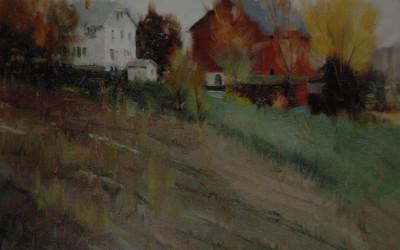 1994 – Autumn Day in Wisconsin, oil on linen, 9 x 12