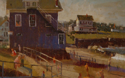 1996 – Late Afternoon Light, Front Beach, Rockport, oil on linen, 16×20