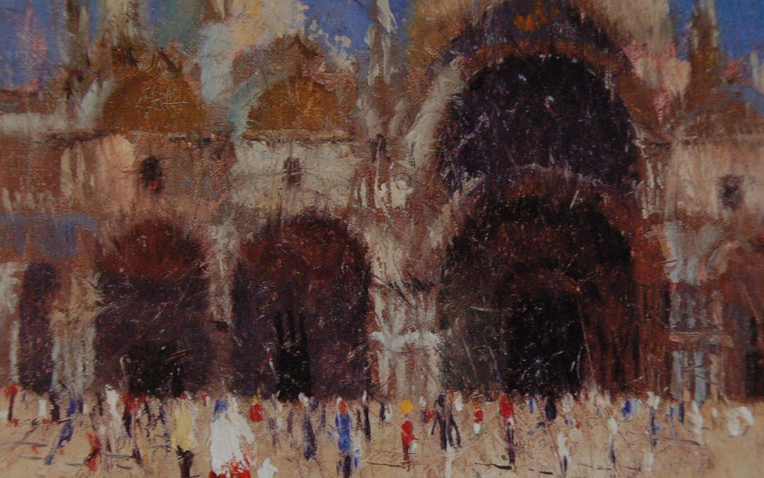 1996 – Saint Mark's Basilica, Venice, oil on canvas, 9×12