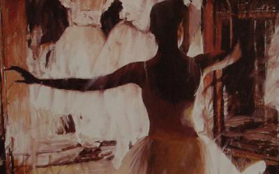 1999 – Elizabeth and Emiko, oil on linen, 20×16