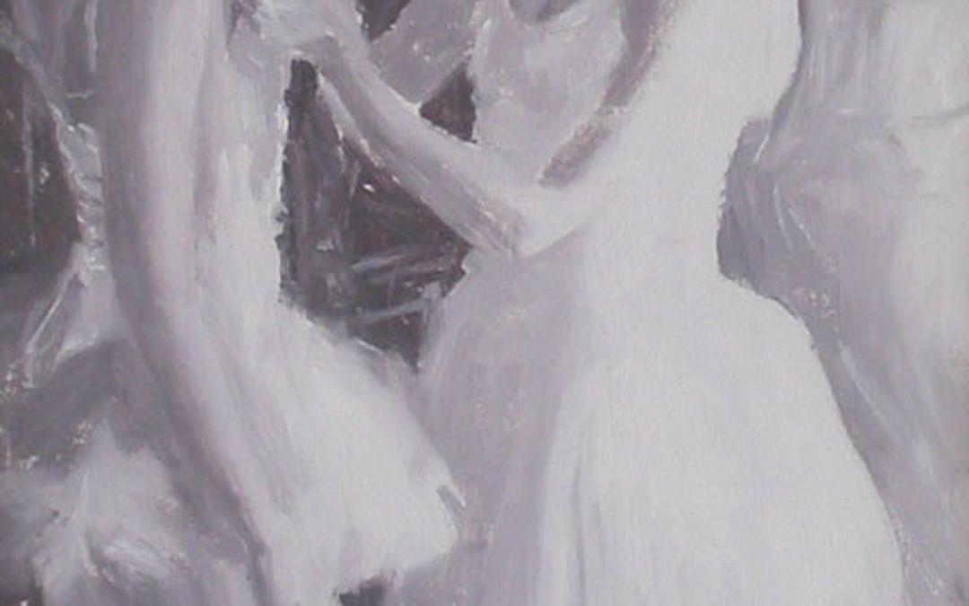 2005 – Ballerinas, oil on linen, 15×10