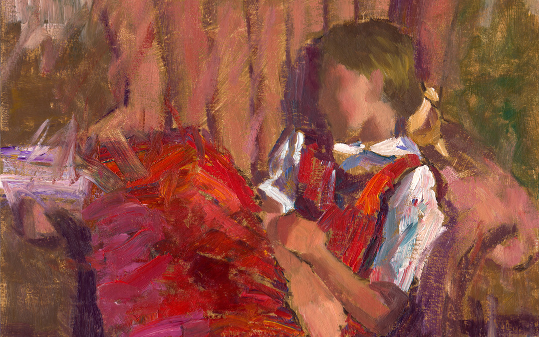 2007 – Anne In The Red Chair, oil on linen, 20×16