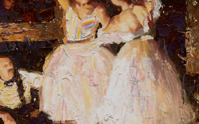 2008 – Dancers and The Impresario, oil on linen, 20×16