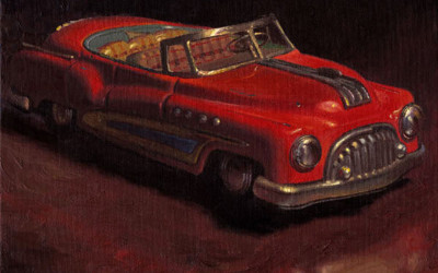 2008 – Happy, oil on linen, 16×20