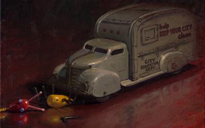 2008 – Road Kill, oil on linen, 16×20