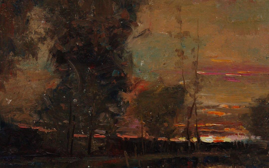 2011 – July Sunset, oil on linen, 20×16