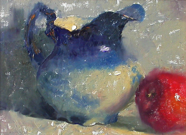 2011 – Favorite Pitcher, oil on linen, 9×12, Windows to the Divine 2011