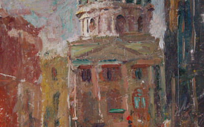 2011 – The Capitol Building, oil on linen, 12×9