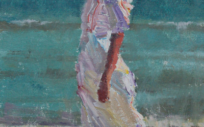 2012 – Katherine At The Beach, oil on linen, 9×6