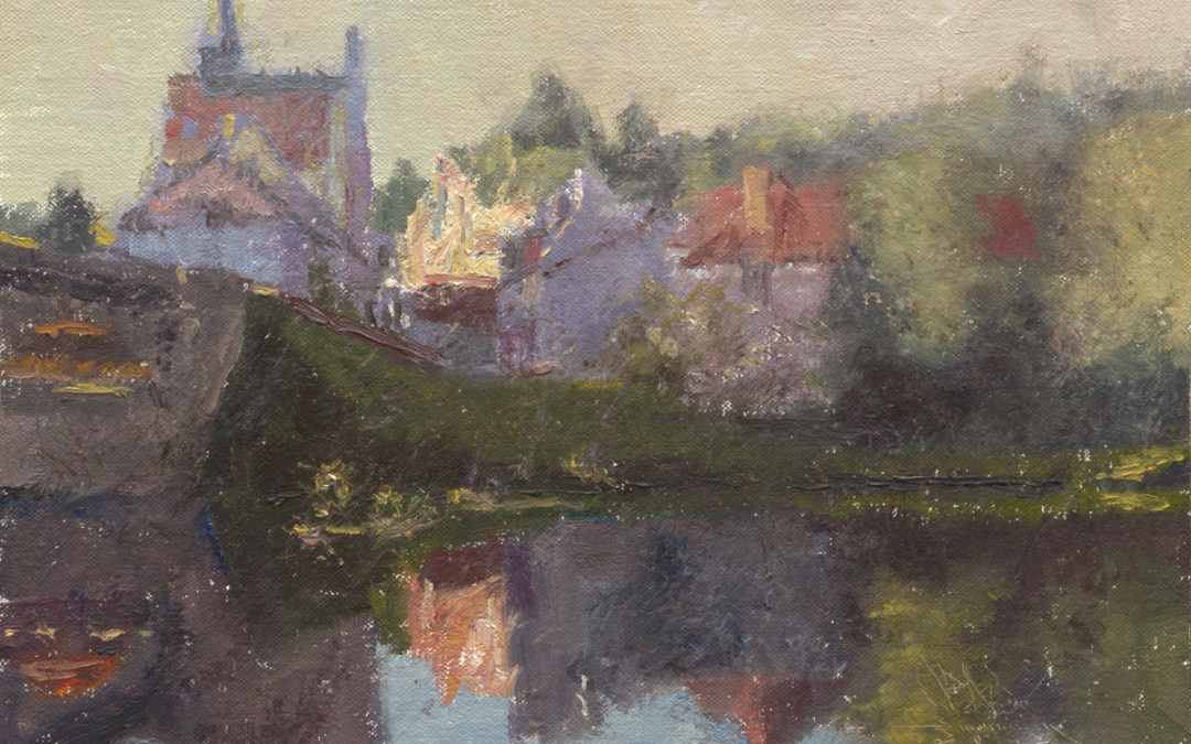 2012 – Angles sur L'Anglin, France, oil on linen, 8×12