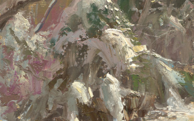 2013 – Early Morning Light, Holliday Park, oil painting