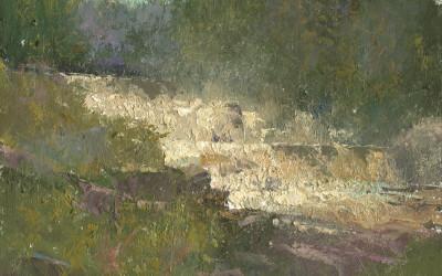 2013 – St. Regis Falls, oil on linen, 16×20