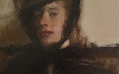 2016, Portrait of Emily With Black Hat & Veil